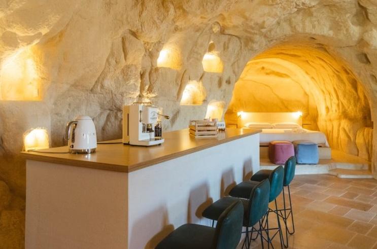 camere in grotta nei Sassi